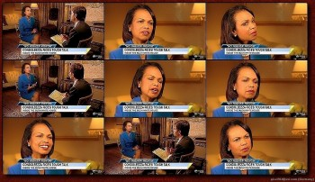 Condoleezza Rice---blue dress--legs--Interview--01.11.2011--abc