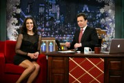 Paula Patton at Late Night with Jimmy Fallon in NY, 21 December, x4 leggy