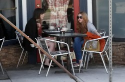 Lindsay & Ali Lohan - Grabbing lunch @ La Conversation Cafe, West Hollywood  - April 17 2012