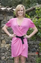 Amanda Holden Pink Minidress